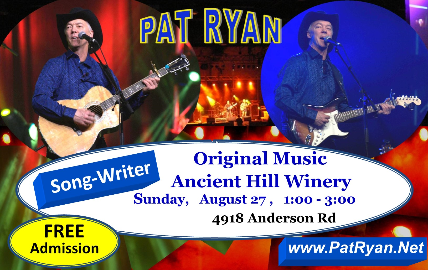 Aug 27 Ancient Hill Pat Ryan